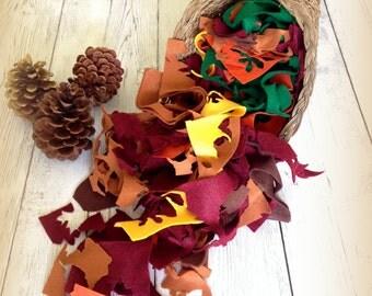 Felt Scraps, Fall Colors Wool Blend, Eco, Craft Autumn Hues 5 oz. Assorted Colors