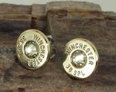 Jonquil Winchester 38 SPL Bullet Earrings