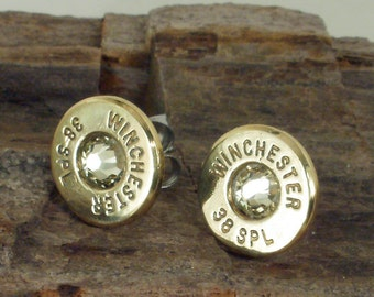 Jonquil Winchester 38 SPL Bullet Earrings