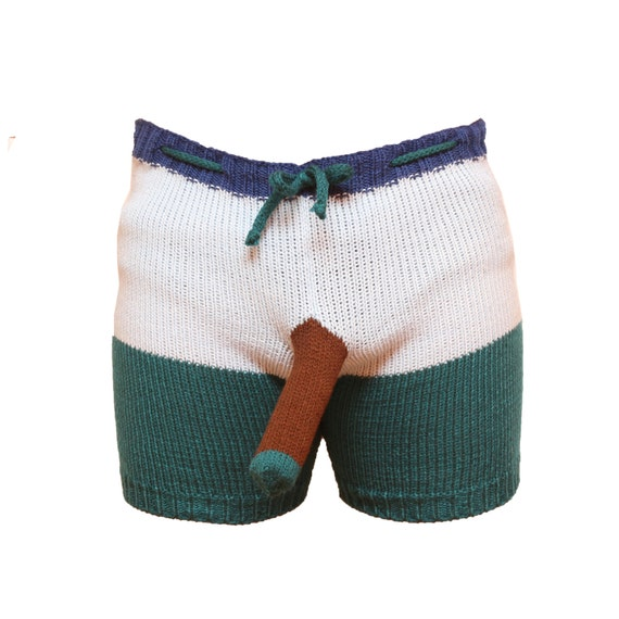 Shorts Boxers Trousers Handmade Gray Elephant Men by ... - photo#5