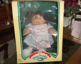 Vintage 1984 Cabbage Patch Kids Doll, in Original Box with Birth Certificate Excellent Condition