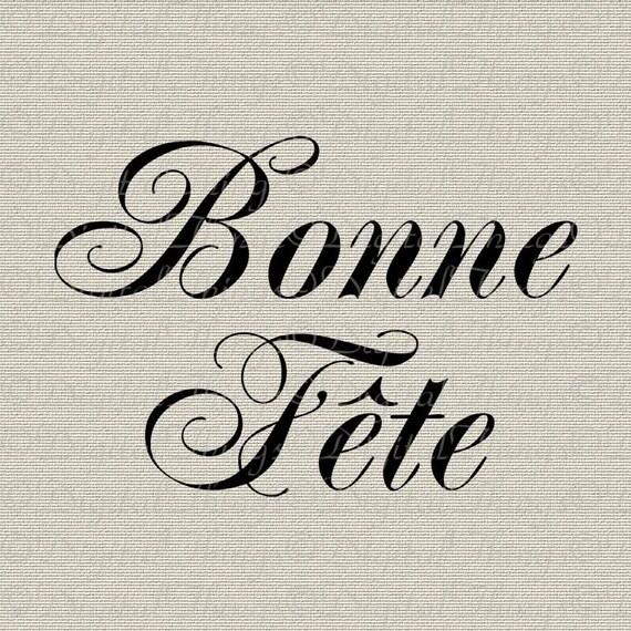 French Script Happy Birthday Typography French Wall Decor Art