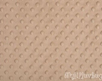 Minky fabric by the yard- camel minky dimple fabric- minky dot fabric