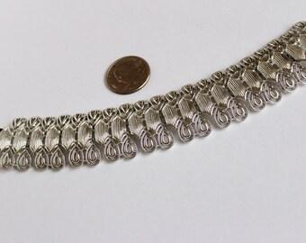 Vintage signed Coro Pegasus  silvertone Bracelet