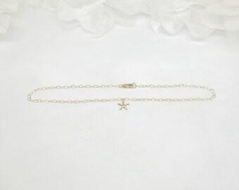 14k Gold Chain Anklet Beach Anklet 14k Gold Starfish Anklet Beach Jewelry Star Fish Anklet 14k Gold Filled Anklet or Bracelet BuyAny3+1Free