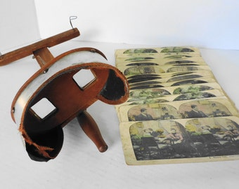 Antique Stereoscope & Victorian Cards Humorous Courtship Marriage Domestic Life