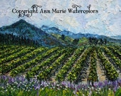 St. Francis Vineyard - Sonoma County landscape oil painting giclee print - 8 x 10 or larger