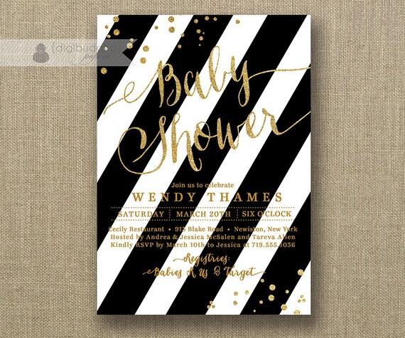 Black & White Invitations is adorable invitation design