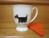 Hand painted Mug or Cup of a schnauzer, mouse and cat order for PjParrot