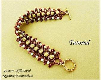 PISTACHIO beaded bracelet beading tutorial beadweaving pattern seed bead beadwork jewelry beadweaving tutorials beading pattern instructions