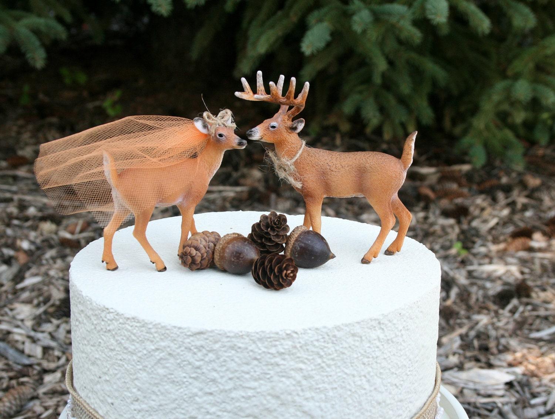 Redneck Cake Topper Deer Cake Topper Wedding by