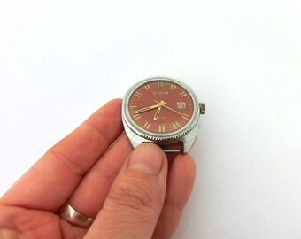 Vintage Brown wrist watch Slava 26 jewels from Russia