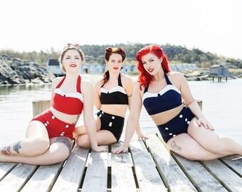 Hello Sailor! bikini - Vintage inspired 40's bikini