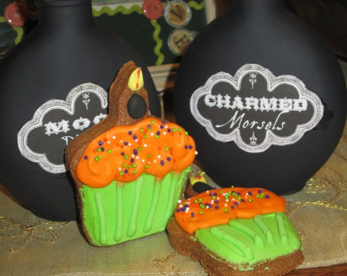 6 Cupcake Dog Treats Pumpkin flavored Halloween Hauntingly Good