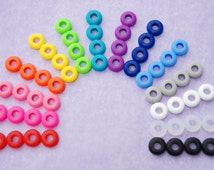 3 Colored Grommets for DIY Mason Jar Cups, Tumblers, Silicone Grommets Food Safe, Rubber Grommets Food Grade, DIY Easter Gift