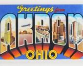 Greetings from Akron Ohio Fridge Magnet
