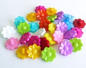 Flower buttons II, set of 30 pieces