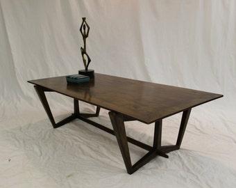 SALE Mid Century Modern, danish, retro, vintage coffee table walnut