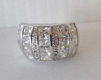 Simulated Diamond Ring, Wedding Band