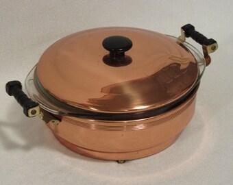 Pyrex Copper and Glass Casserole Set