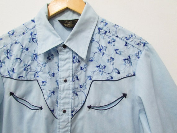 Western Shirt Floral Vintage 70s 80s Men 39 S L By