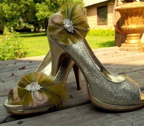 Bridal Shoes Boho: Wedding Shoe Clips Camouflage Shoe Clips Rustic Boho