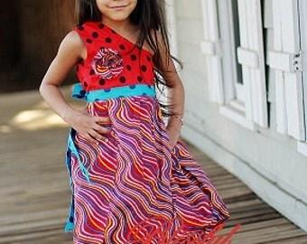 Sewing Pattern Girls Bubble Dress,6 months to 10 years, PDF pattern