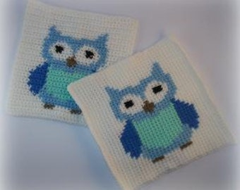 Owl Block/Graph Crochet Pattern