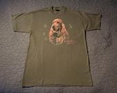 Vintage 80s Cocker Spaniel shirt - cute & curly doggie T-shirt - Screen Stars Variation
