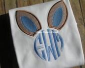 Boys Bunny Ears Monogram Shirt