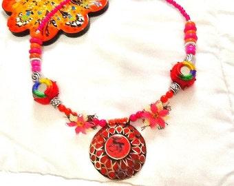 SALE----- TRIBAL KUCHI necklace- Bohemian Necklace- Gypsy Necklace - Middle Eastern Jewelry- Belly Dance Jewelry