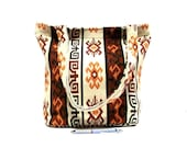 Tribal Shoulder Bag - Ethnic Style Tote Bag - Large Bag in Cream, Orange, Brown - Woven Kilim Bag - Navajo, Aztec