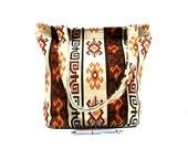 Tribal Shoulder Bag - Ethnic Style Tote Bag - Large Bag in Cream, Orange, Brown - Woven Kilim Bag - Navajo, Aztec