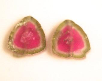 8.5 carats tourmaline slice
