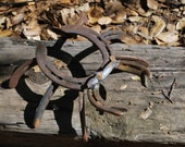 HORSE SHOE CRAB yard art rustic horseshoe garden decoration