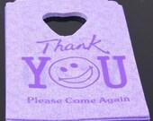 50 Purple Thank you  Gift Bags 15 x 9cm Plastic
