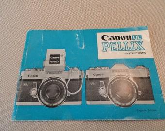 804)  Original Canon QL Pellix Instructions Manual