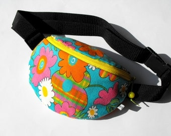 SALE*** 50% OFF in June*** fanny pack/hip bag - colourful flowers (normal size)