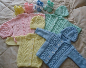 Lovely hand knitted Baby set