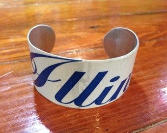 Illinois License plate Cuff Bracelet