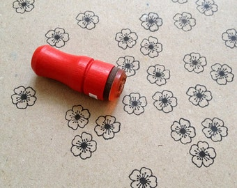 Mini Cherry Blossom Rubber Stamp