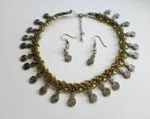 Olive & swirls necklace set