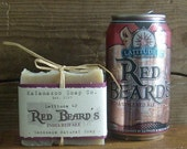 Latitude 42 Red Beard's India Red Ale Beer Soap- Handmade Natural Cold Process- Made in Kalamazoo, Michigan
