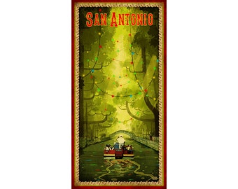 San Antonio River Walk Poster