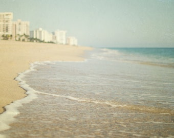 Beach Photography, Seashore Wall Art, Vacation Home Decor, Sand Photo, Flordia Photograph, Blue Ocean Picture