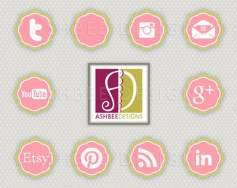 Social Media Button Package