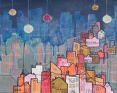 Fine Art Print  of my Original Painting titled Building New Paths