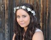 Wedding Crown, Wedding Headband, Flower Crown, Bridal Head Wreath, Rustic Halo, Woodland Wreath, Wedding Flower Hair Piece, Australia