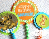 3 piece Simba The Lion King Centerpiece or Cake Top