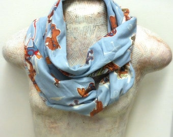 Upcycled Cowboy Infinity Scarf